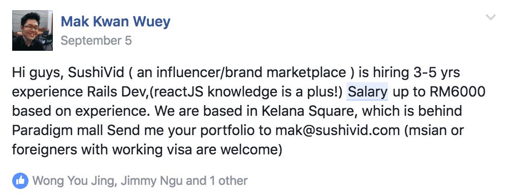 Ruby Developer Salary In Malaysia