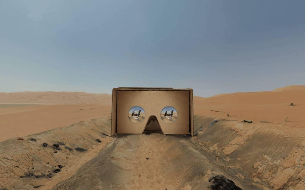 A VR in a desert