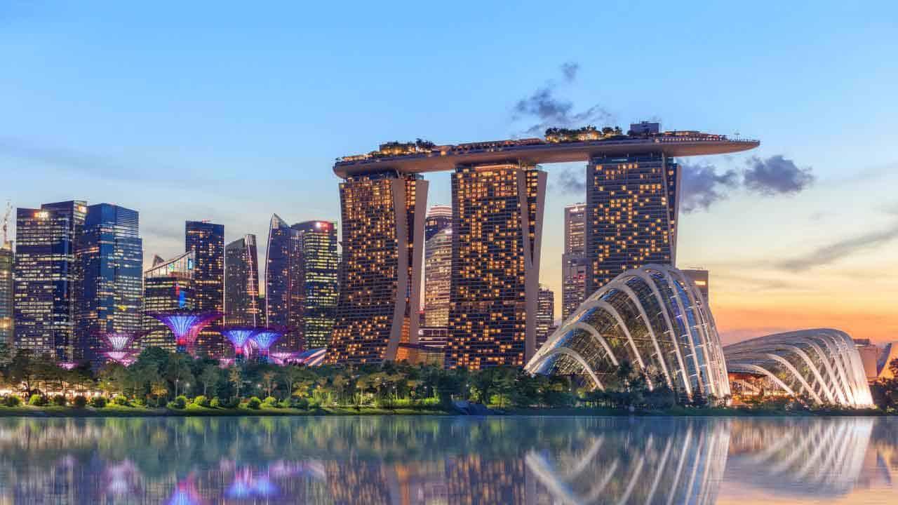 Marina Bay Sands area in Singapore