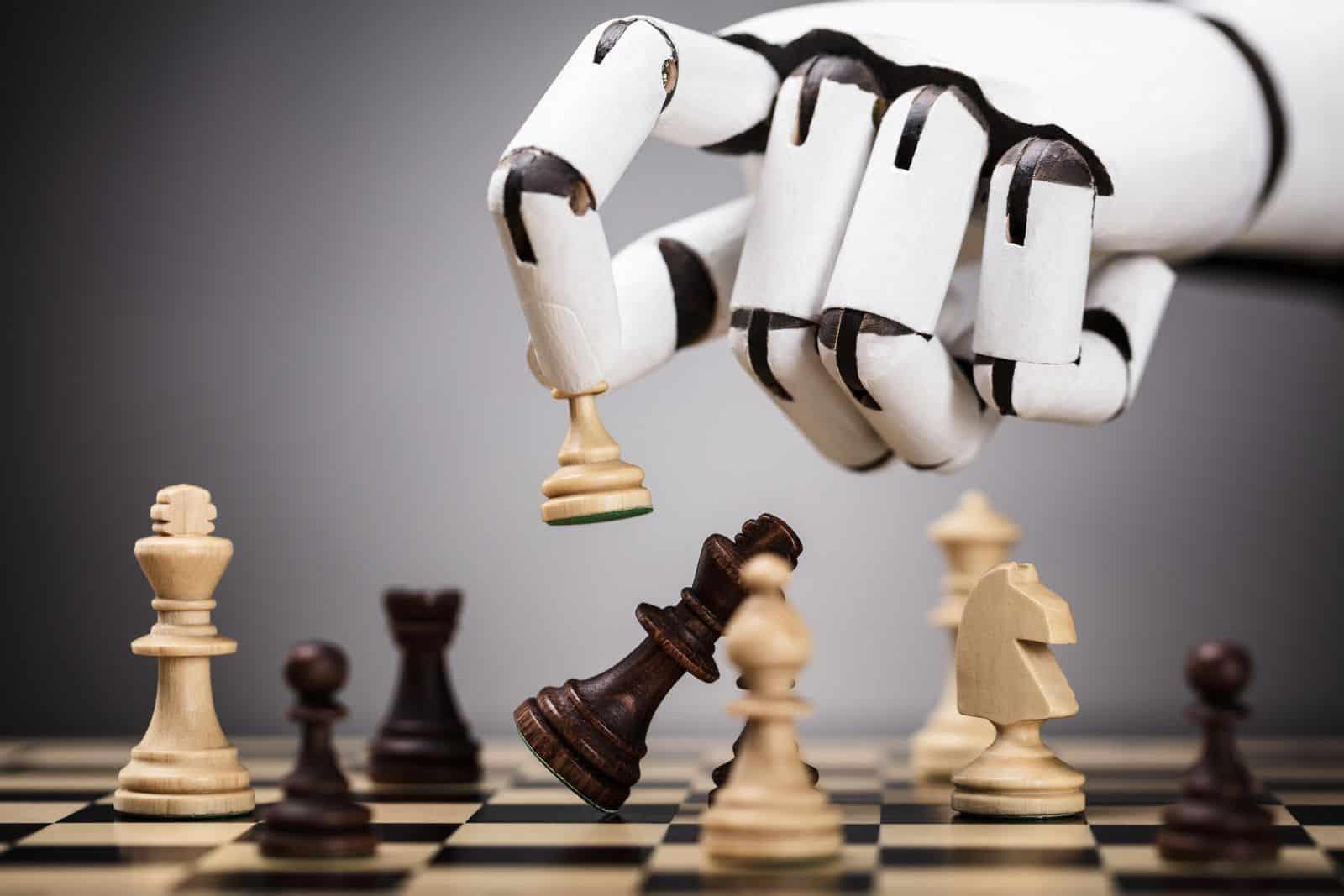 robot hand chess